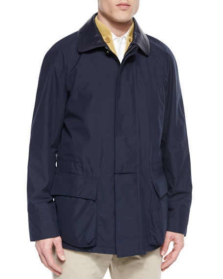 Loro PianaWindstorm Jacket with Cape Back