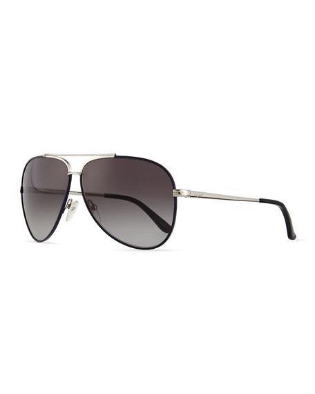 Salvatore Ferragamo Aviator Sunglasses, Palladium