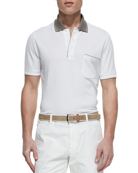 Loro Piana Regatta Contrast-Collar Polo