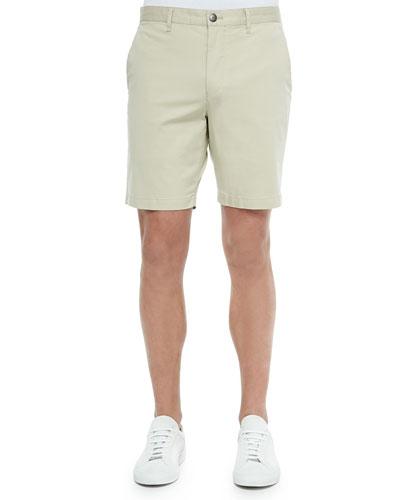 Bermuda Cotton-Blend Shorts, Tan