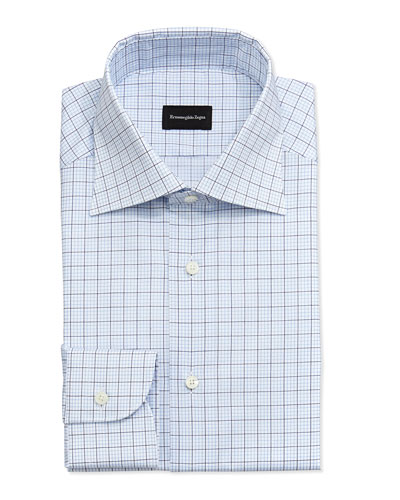 Woven Windowpane & Graphic-Check Dress Shirt