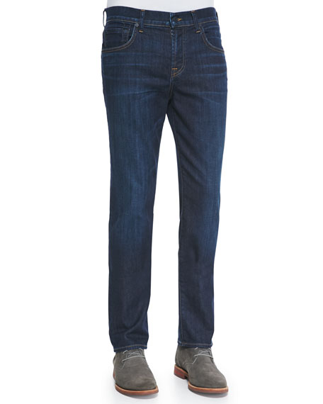 7 For All MankindStraight-Leg Luxe Denim Jeans