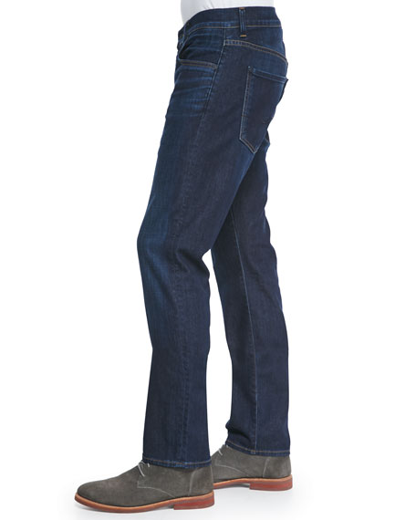 Straight-Leg Luxe Denim Jeans