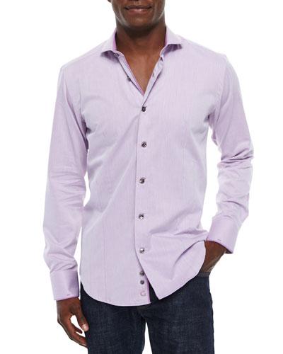 Lavender Diamond Long-Sleeve Sport Shirt, Lilac