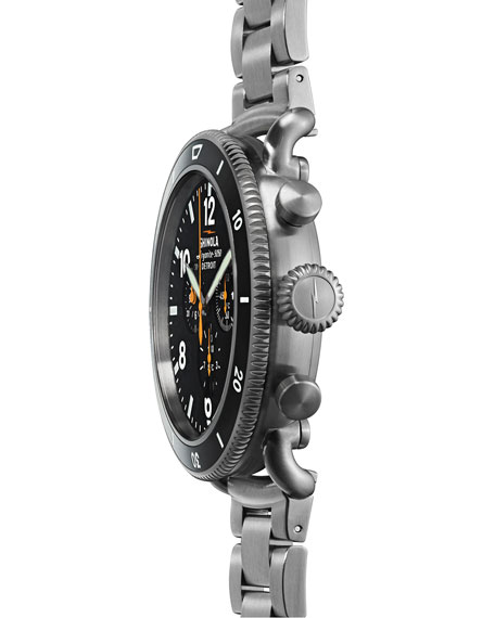 Image 3 of 6: Shinola Men's 48mm Limited Edition Black Blizzard Watch