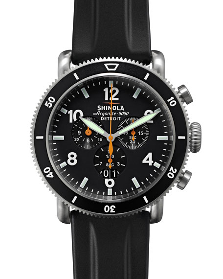 Image 5 of 6: Shinola Men's 48mm Limited Edition Black Blizzard Watch