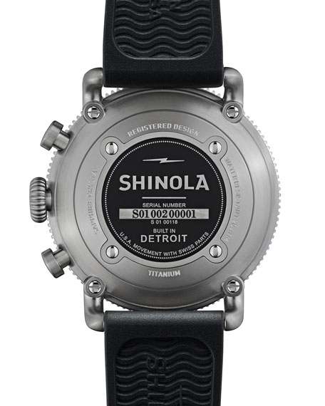Image 2 of 6: Shinola Men's 48mm Limited Edition Black Blizzard Watch