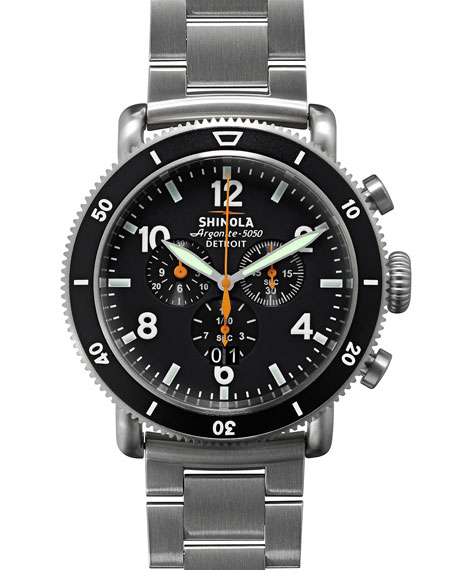 Image 1 of 6: Shinola Men's 48mm Limited Edition Black Blizzard Watch
