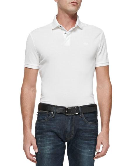 Ralph Lauren Black Label Mesh Knit Polo Shirt,