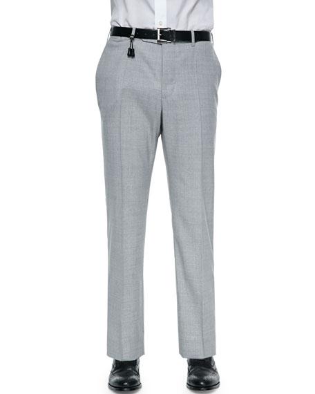 Incotex Benson Lightweight Super 130s Wool Trousers, Light