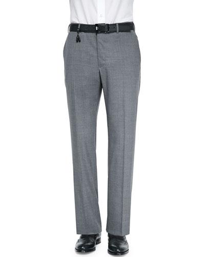 Benson Lightweight Wool Trousers, Medium Gray