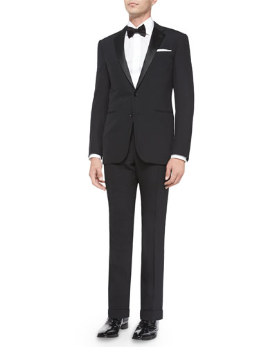 Basic Notch-Collar Tuxedo, Black
