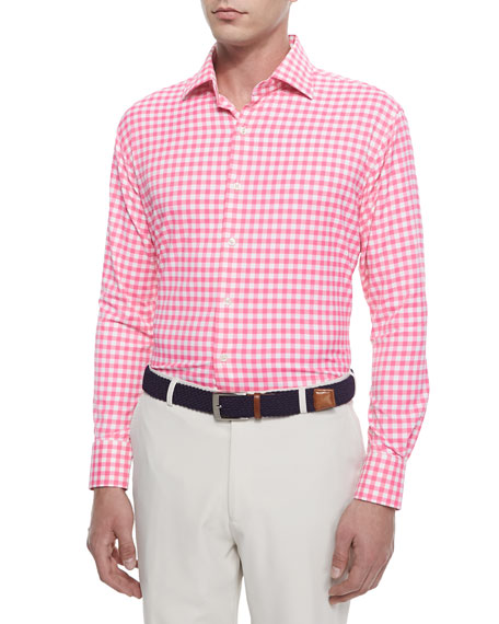 peter millar check performance sport shirt durham high