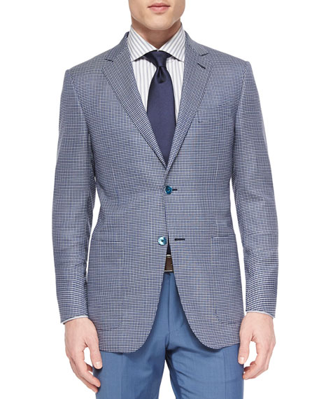 Ermenegildo Zegna Woven Wool Check Blazer