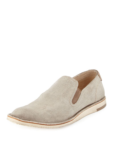Mayfield Canvas Slip-On Shoe, Cream