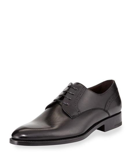 Ermenegildo Zegna Perforated Derby Shoe, Black
