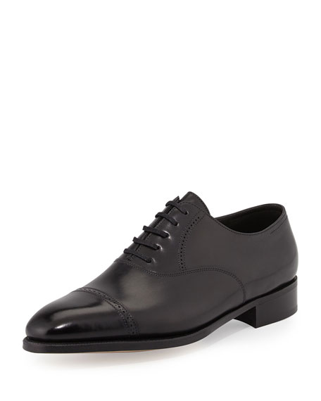 John Lobb Philip II Cap-Toe Oxford, Black