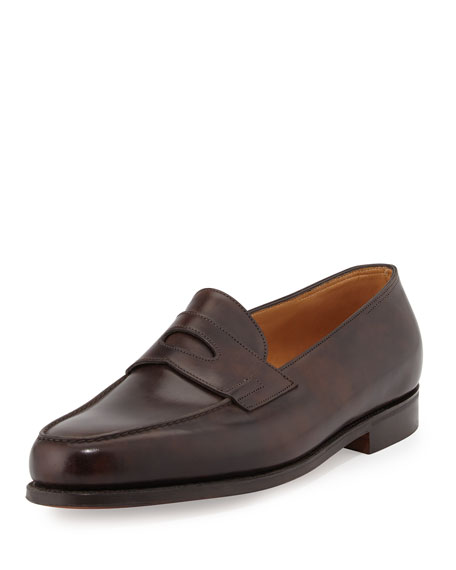 John Lobb Lopez Penny Loafer, Dark Brown