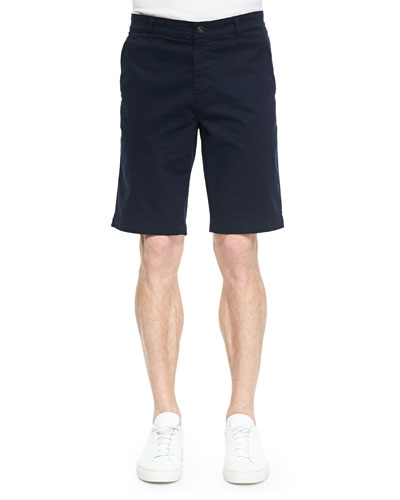 Griffin Flat-Front Shorts, Navy