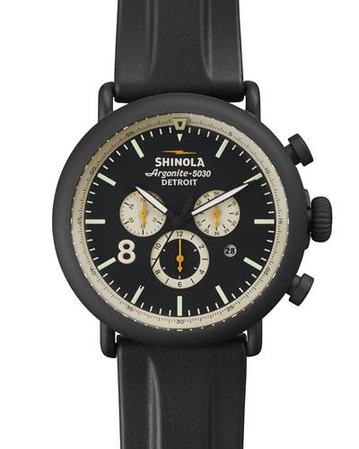 47mm Runwell Chronograph Watch, Black