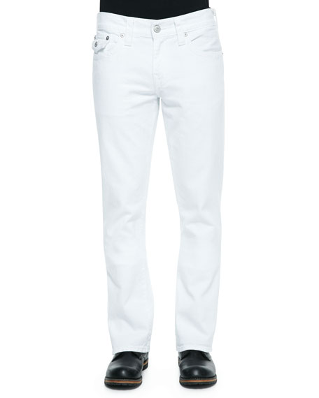 True Religion Ricky Five-Pocket Slim-Fit Jeans, White