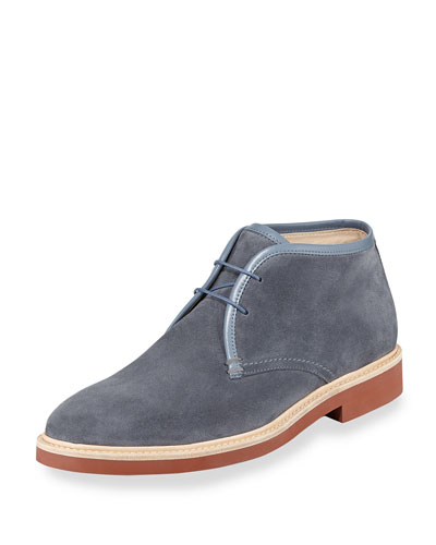 Suede Chukka Boot, Light Blue
