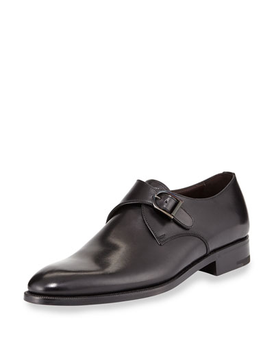 Single Monk Strap Shoe, Black