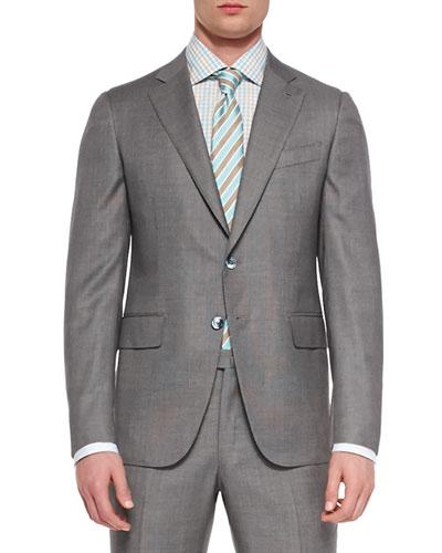 Super 140s Birdseye Suit, Light Gray