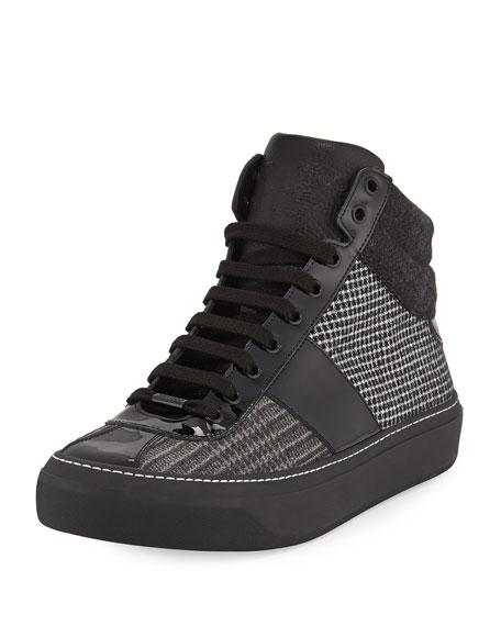 Jimmy Choo Belgravia Patchwork Lace-Up Shoe, Multi