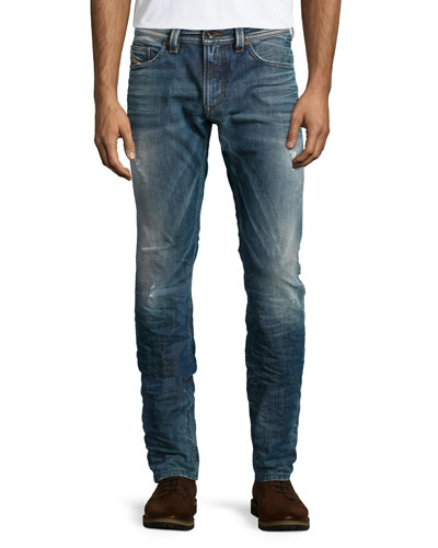 Thavar 0843S Washed Skinny Jeans, Indigo