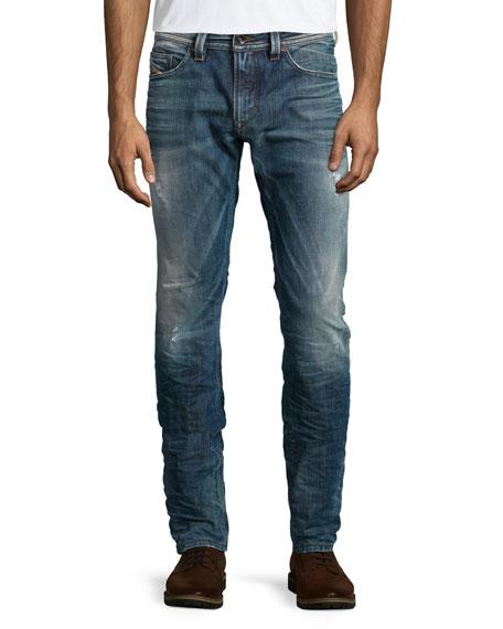 Diesel Thavar 0843S Washed Skinny Jeans, Indigo