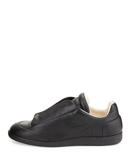 Future Men's Leather Low-Top Sneaker, Black