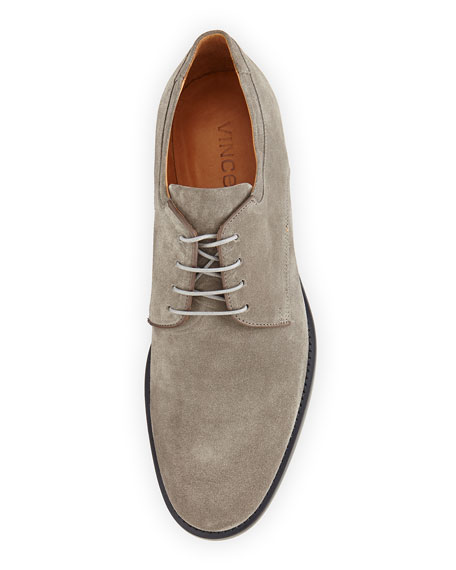 Suede Lace-Up Oxford, Light Brown