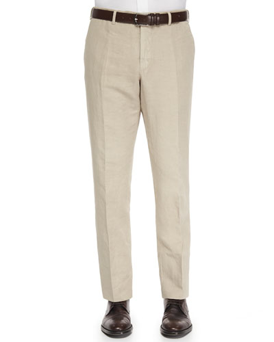 Chinolino Cotton/Linen Trousers, Stone
