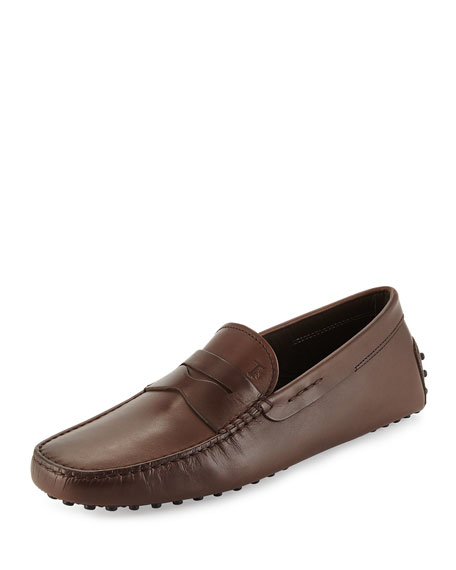 Tod's Leather Penny Driver, Brown