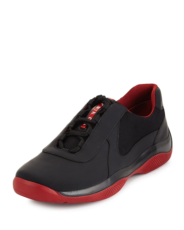 Prada Punta Ala Leather Sneaker bff1d8d0971f