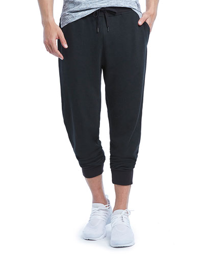 Terry Cotton-Blend Sweatpants, Blue