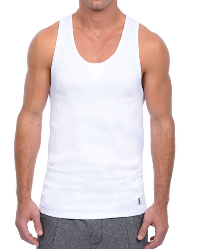 Core Comfort Lounge Tank, White