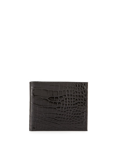 Alligator Bi-Fold Wallet, Black