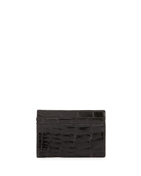 Alligator Card Case, Black
