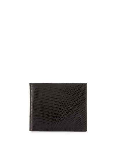 Lizard Bi-Fold Wallet, Black