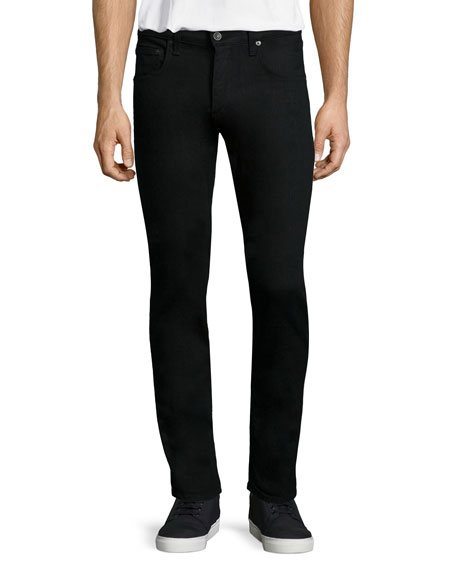 Rag & Bone Slim Skinny-Leg Denim Jeans, Black
