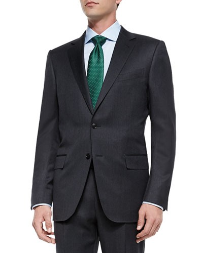 Solid Two-Piece Suit, Gray