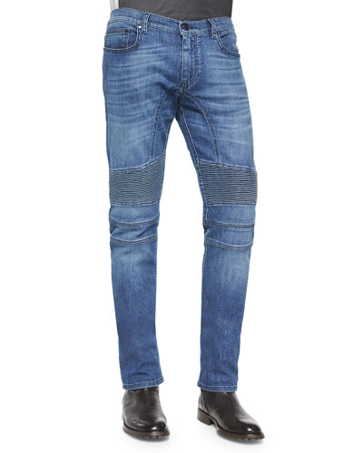 Belstaff Eastham Slim-Fit Washed Denim Jeans, Blue