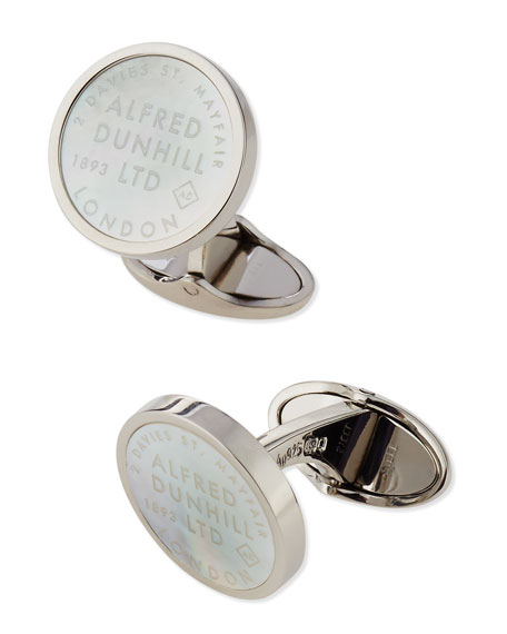 Mother-of-Pearl ID Tag Cuff Links