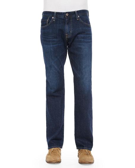 AG Adriano Goldschmied New Hero Straight-Leg Denim Jeans,