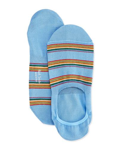 Multi Stripe Loafer Socks, Blue