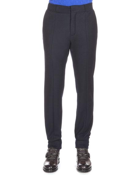 Berluti Wool-Blend Jogger Pants, Notte