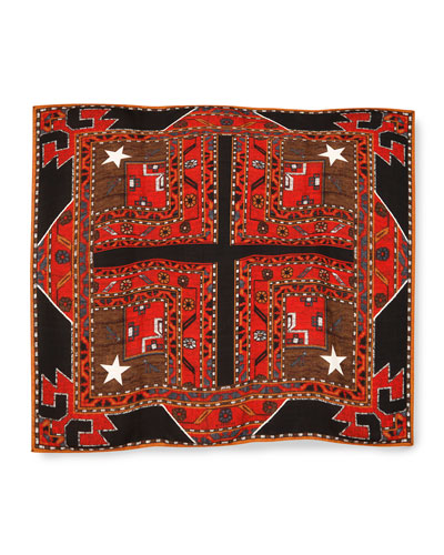 Persian-Print Scarf, Multi