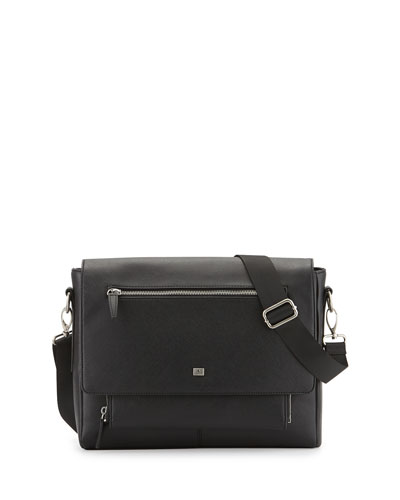 Medium Messenger Bag, Black